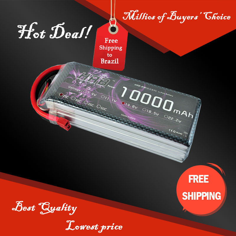 New  14.8V 10000Mah 25C Li-PO HRB Battery for RC airplanes Helicopters Cars+ free shipping<br><br>Aliexpress