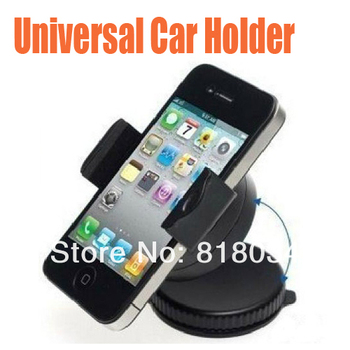Universal Car Holder Mount for iPhone 4 5 S4 i9500 Mobile Phone Cellphone GPS PAD Accessories ,100pcs/lot Free Shipping