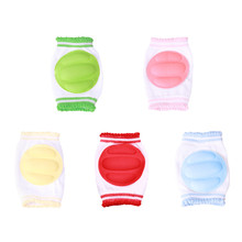 Hot Fashion Safety Crawling Elbow Cushion Infants Toddlers Baby Knee Pads Protector Leg Baby Kneecap For Kid 6 Colors PA878704(China (Mainland))