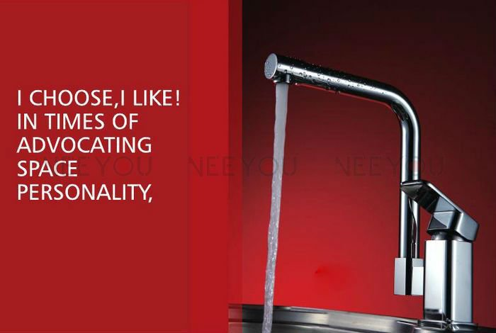 Kitchen Mixer Faucet Two Function Thicken Chrome Finish Brass NY03281 Excellent Tap [Factory suppliers](China (Mainland))
