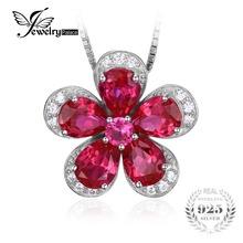 Jewelrypalace Fleur 5ct Créé Rouge Ruby Pendentif 925 Sterling Argent Mode Pendentif Bijoux pour Femmes Pas Inclure la Chaîne(China (Mainland))
