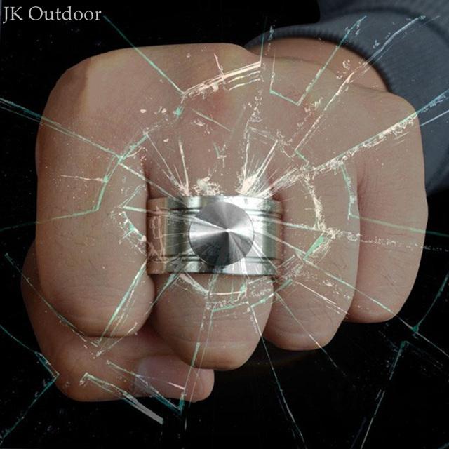 Self defense Ring Shocker Weapons Product Survival Ring Tool Pocket Women Self Defense Ring Glass Breaker