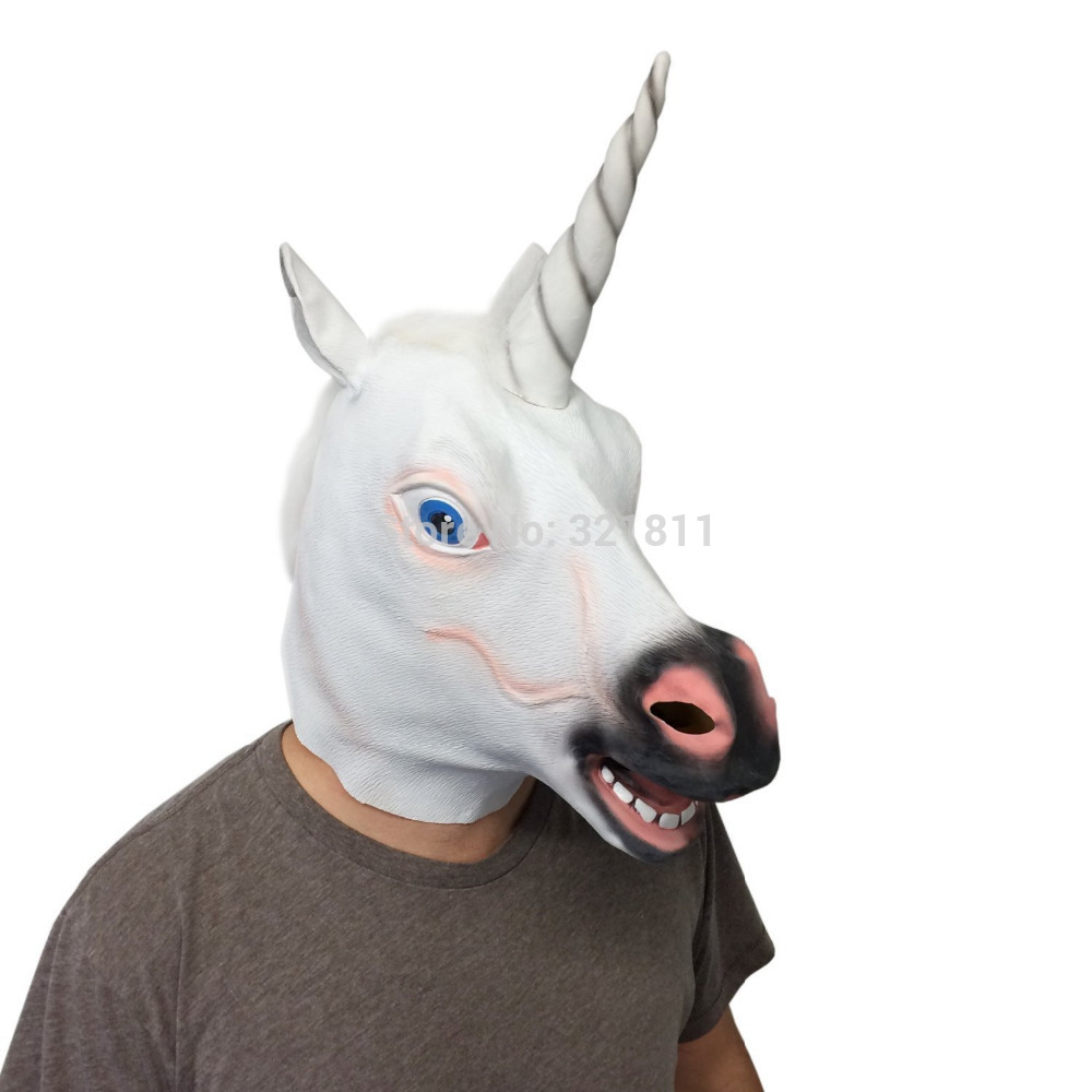 Funny Unicorn Masks-in Party Masks from Home & Garden on ... Unicorn Head Mask Amazon