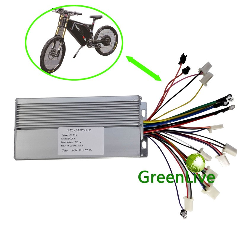 GREENLIVE Stealth bomber electric bike 60V 50A max 1500W BLDC motor controller<br><br>Aliexpress