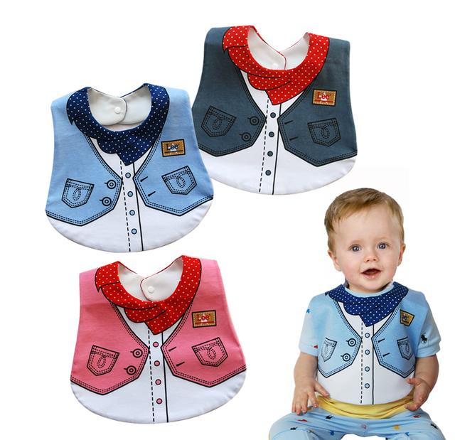 2016 Baby Clothing Bavoir 3pcs/lot Free Shipping Baby Bib Infant Saliva Waterproof Mark Wear Formal Dress