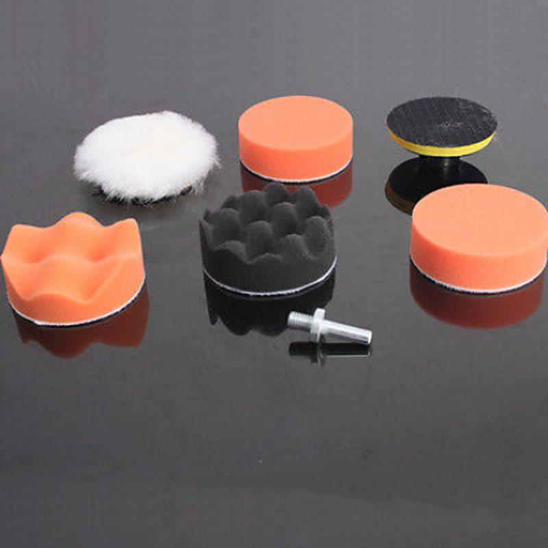 6 Pcs Set Buffing Pad Auto Car Polishing Wheel Kit With M10 Drill Adapter Buffer High