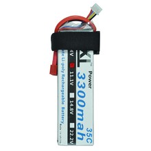 XXL Power Lipo Battery 11.1V 3300mAh 3S 35C Li-Po Battery for RC Helicopter Qudcopter Car Airplane RC Parts