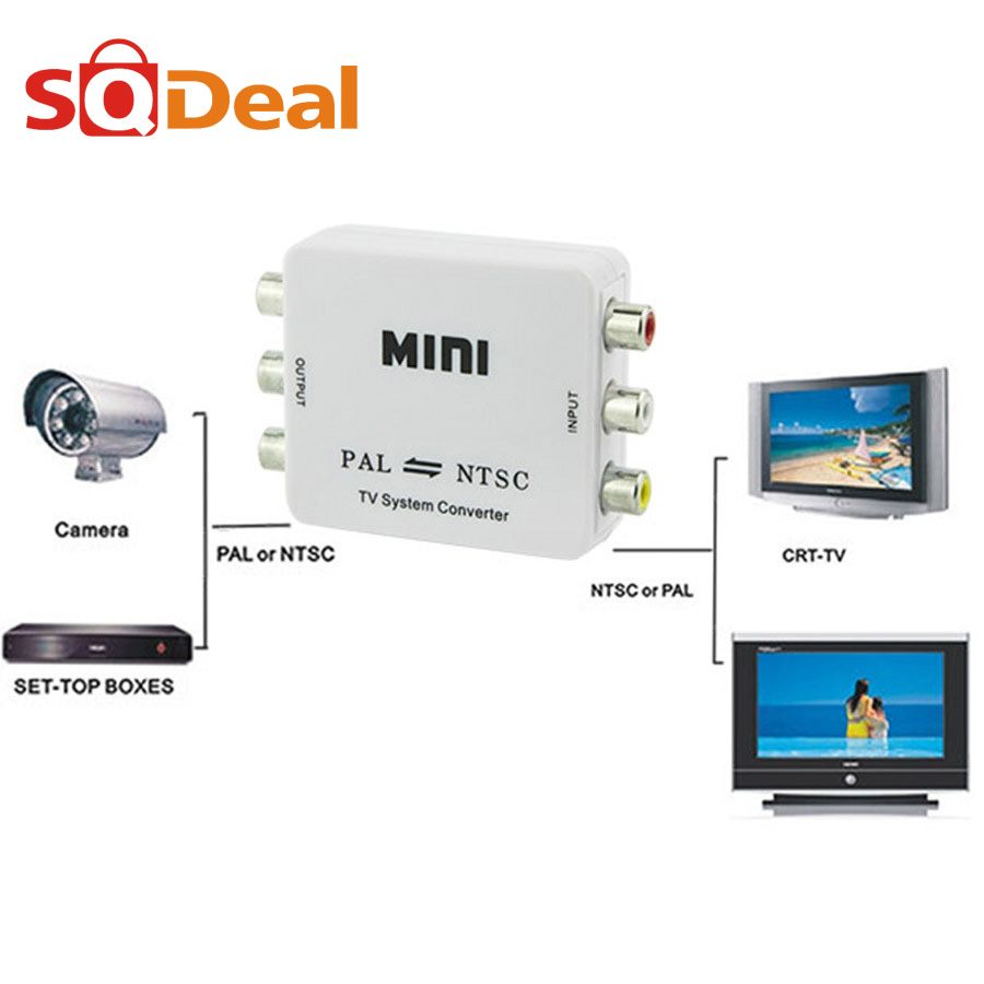 1080P HD Compact PAL/NTSC Video Converter Connection NTSC TO PAL ideo Conversion for VCD/DVD/DV/VCR/DVR/PS2/TV/Monitor/Projector(China (Mainland))