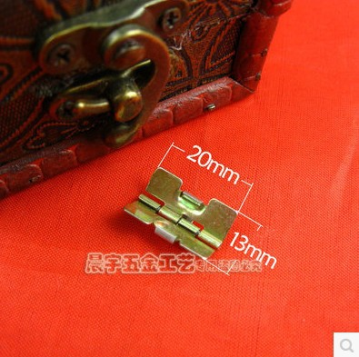 100pcs/lot Wholesale Hardware Furniture accessories 20*13 Spring Hinge Gift Box Jewelry Ring Packaging Small Parts(China (Mainland))
