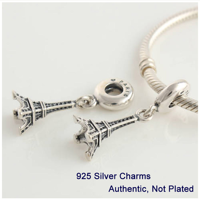 Fits Pandora bracelet Free Shipping 100% Genuine 925 sterling Silver Thread Charms DIY Jewelry wholesale Eiffel Tower Bead L086<br><br>Aliexpress