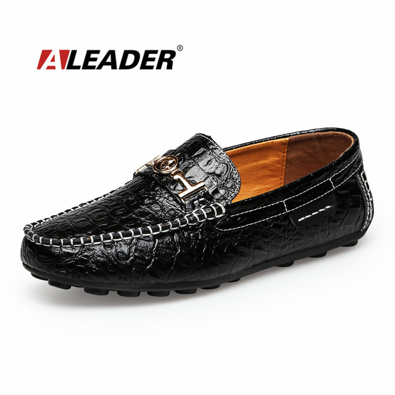 Mens Leather Loafer Shoes 2015 Casual Shoes Men Autumn Fashion Slip On Driving Shoes Moccasin Comfort  Flat  Dress Loafer Shoes