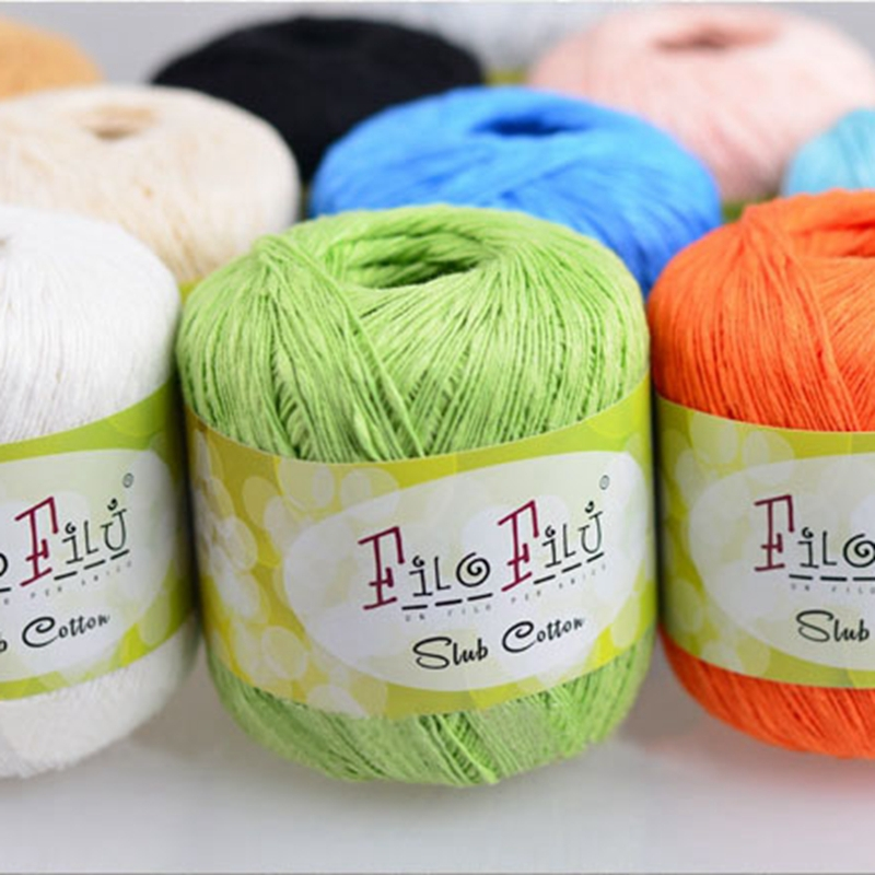 Knitting Yarn Brands : Filo Filu Brand 100% Cotton Yarn Hand Knitting for Baby Spring/Summer ...