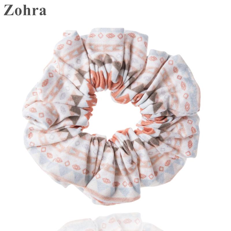 Zohra 2016 Fashion Young Hair Accessories 3D Digital Printing scrunchy Women's Girls hair scrunchies Elastic Hair bands Headwear(China (Mainland))