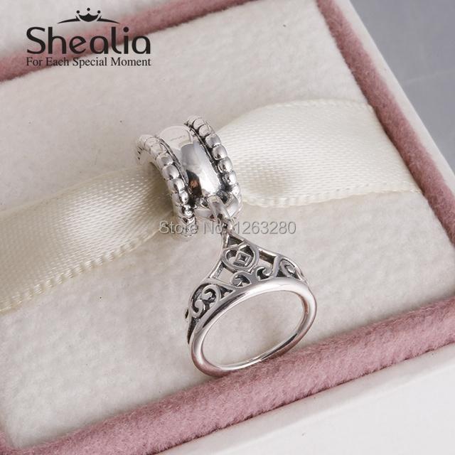 Весна belle тиара мотаться подвески-талисманы подвески 925 чистое серебро ювелирные изделия для женщины подходит своими руками браслеты SH0629
