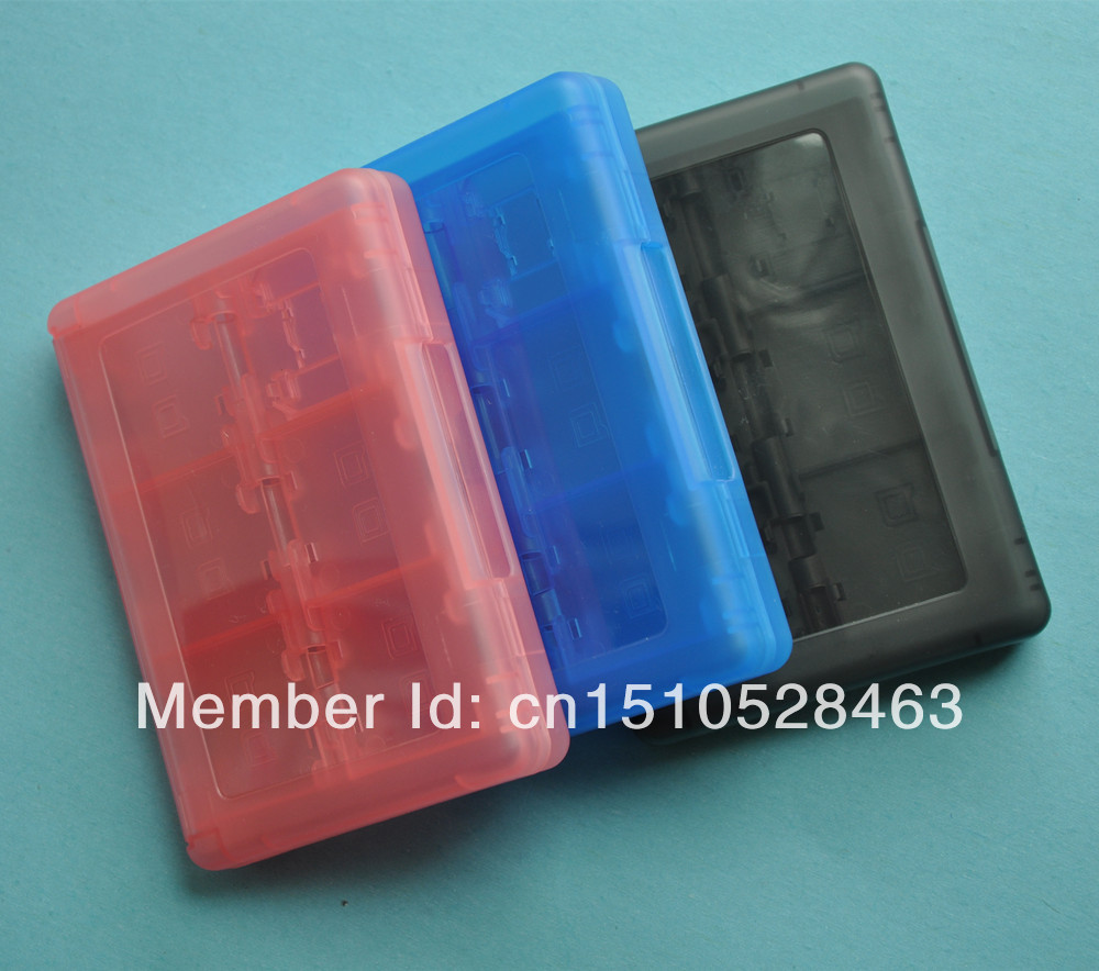 Free Shipping 24 in 1 Plastic Video Games Card Storage Case for 3DS/3DS LL/DSI/DSL/DSI XL(China (Mainland))
