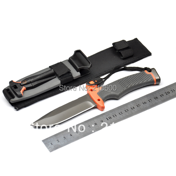 Top quality !! BEARG Survival knives Fixed Blade Knife!!! & Fire Starter - Full(China (Mainland))