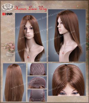 Новые продукты 20 inch шелковый прямо glueless парики шнурка реми перед кошерный парики на складе большой слой все волосы одной длины на складе