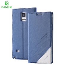 Buy FLOVEME Magnetic Flip Leather Phone Case Samsung Galaxy Note 4 N9100 IV Samsung S8 Plus S6 S7 Edge Plus Card Slots Bag for $6.58 in AliExpress store