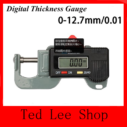 Гаджет  2014 new Cheap Digital Thickness Gauge Meter Tester Micrometer Measuring Instrument 0 to 12.7mm + Free Drop shipping None Инструменты