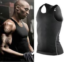 2 Colors Hot  Sports Vest Breathable Sleeveless Shirts Basketball Men Slim Tight Tank Tops Tights High Quality free shipping