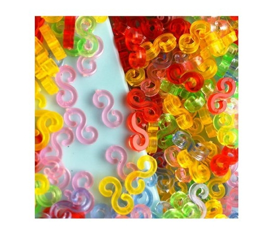NEW Amazing Loom Bands Pack of 150Pcs Colorful S-Clips 4Z179(China (Mainland))