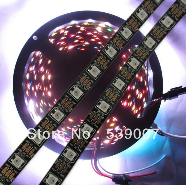 5X4M WS2812B Black Non-waterproof 60leds/M 5050 SMD RBG LED Pixel Srip WS2812B&amp; 60 IC DC5V led strip lights<br><br>Aliexpress
