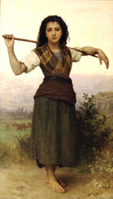 Free shipping High quality 100% hand-painted famous artists oil painting reproduction canvas art of Bouguereau Pastourelle(China (Mainland))