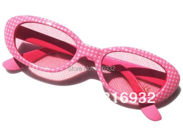 New! High quality, pink kid's sun glasses, 3pcs/lot