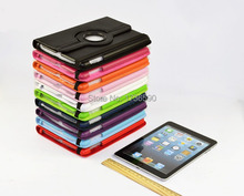 Top Quality Free Shipping Luxury 360 Degree Rotating Flip PU Leather Stand Case For Apple Ipad Air 1 For Ipad 5