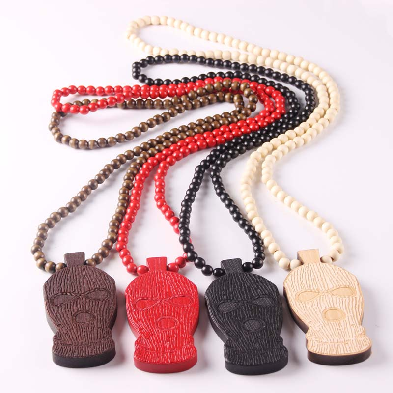 Free shipping GOODWOOD Hip Hop Necklace of Wooden Pendant Necklace skiing cap Rosgw wood jewelry(China (Mainland))