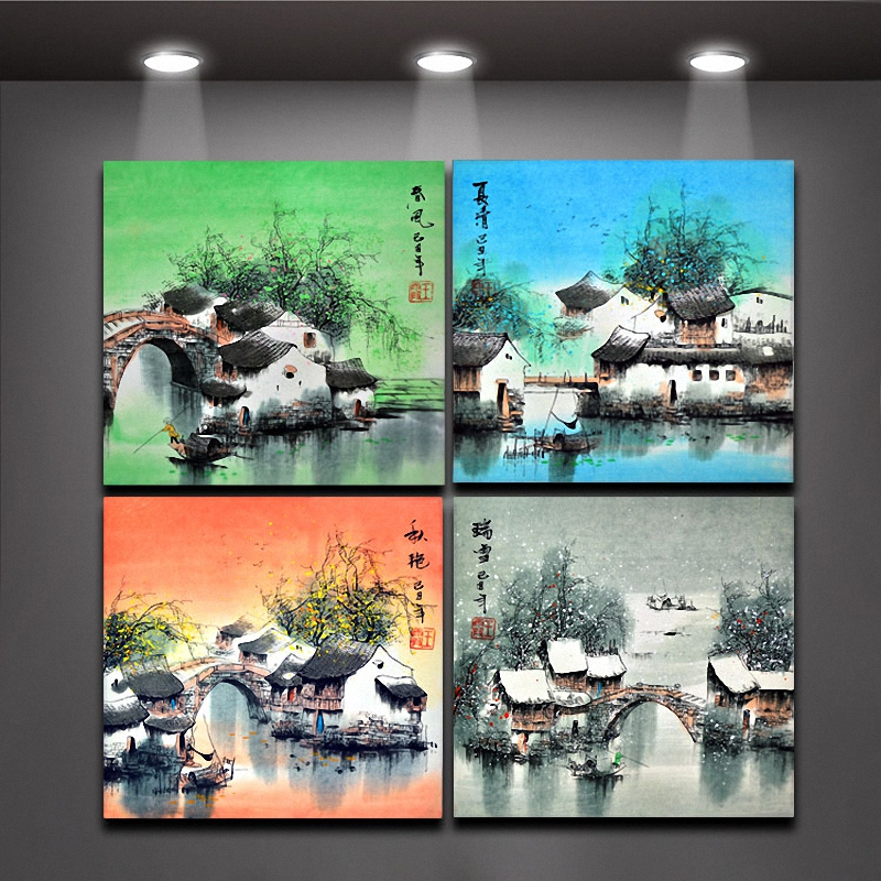 Buy 4 piece chinese painting four seasons for 4 seasons decoration