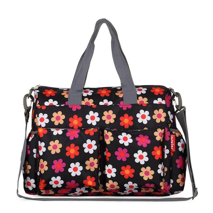 2015 Colorful Urban Series Fashion Multifunctional Baby Diaper Bag Changing Bag Waterproof Nappy Bag Elegant Print Mommy Bag(China (Mainland))