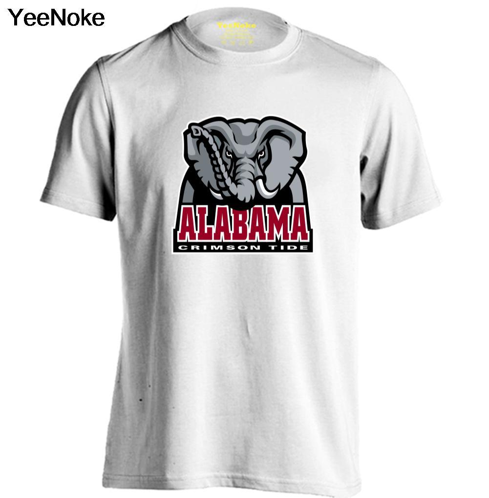 NCAA ALABAMA CRIMSON TIDE Mens & Womens Cotton T Shirt fashion style Comfortable T Shirt(China (Mainland))