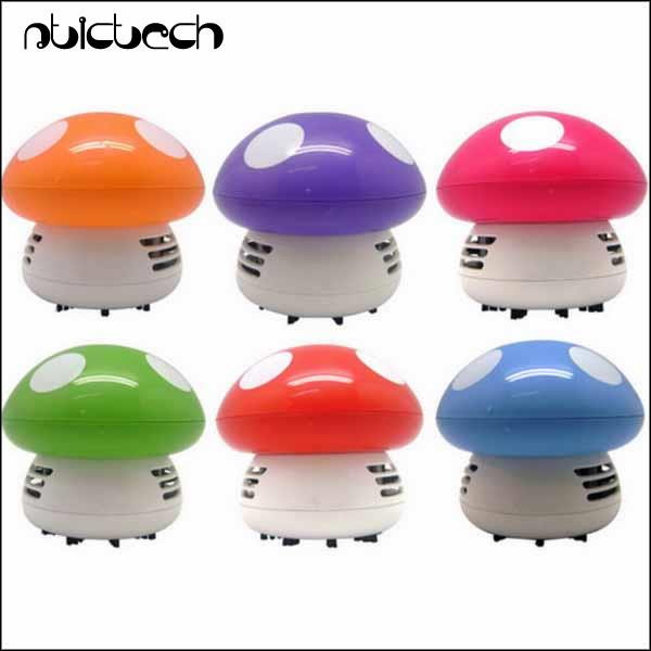 by dhl or ems 200 pieces Mini Cute Personality Household Vehicle Cartoon Colored Mushroom Desktop Vacuum Cleaner(China (Mainland))