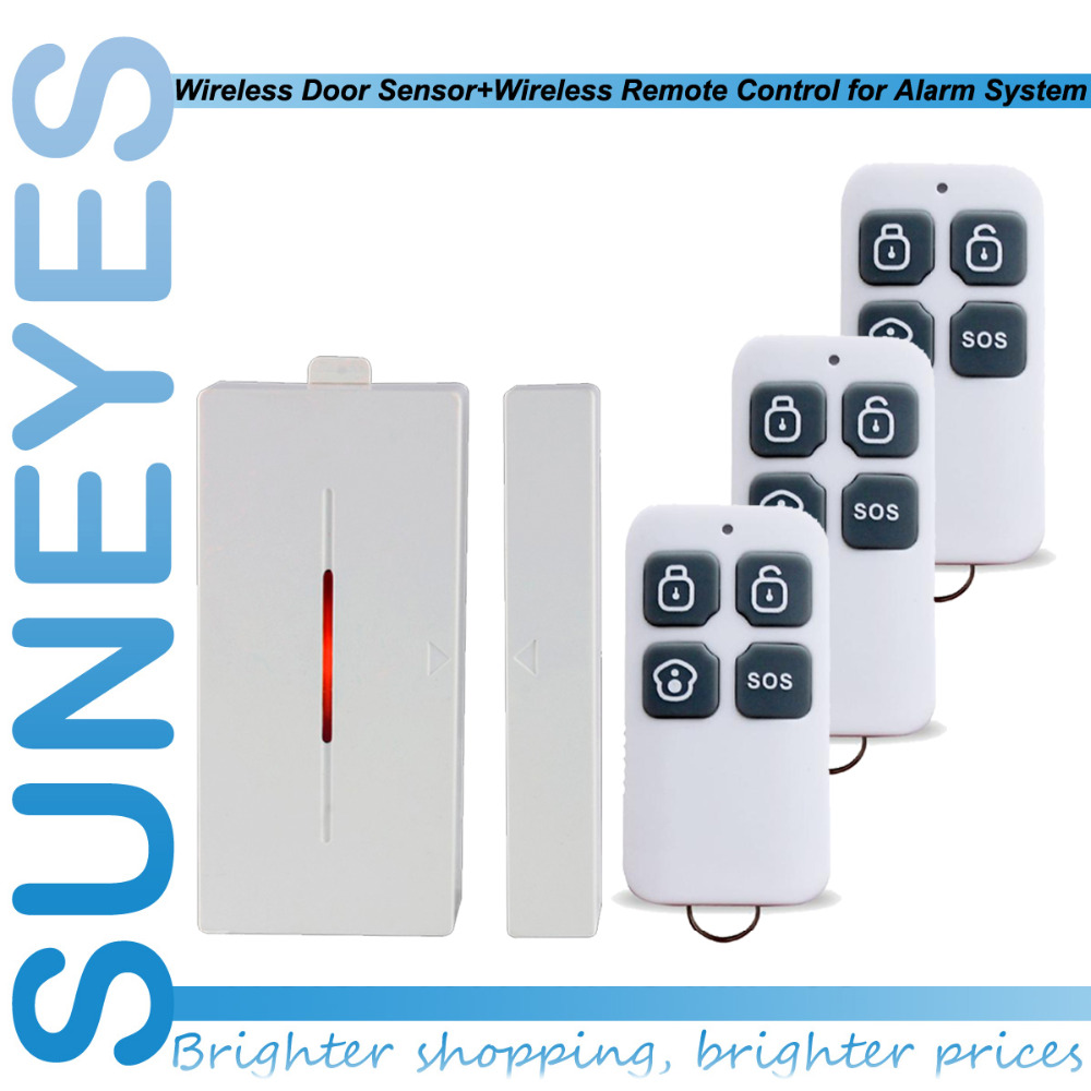 SunEyes SP-RC22-3+CD100 Wireless Alarm Remote Controller +Wireless Magnetic Door Sensor with 433MHZ(China (Mainland))