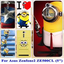 Soft TPU Hard plastic Cartoon Animal Phone Cases Asus Zenfone 2 ZE500CL 2E Z00D Zenfone2 5.0 Inch Covers Back Cover - Blue Mill 3C Products Online Super Market store