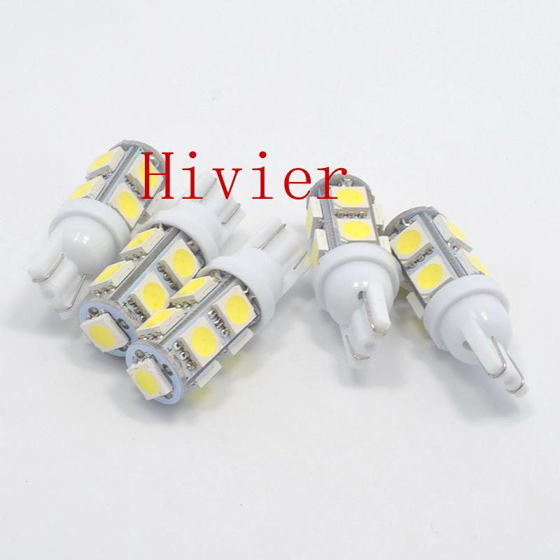 New White T10 4pcs 5050 9SMD 9 SMD Car Led 194 168 192 W5W DC 12V Automobile Bulbs Lamp Wedge Interior 9 Led Lights Wholesale(China (Mainland))