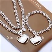 fashion jewelry, Silver plated Necklace & bracelet,, jewelry,Brand New S83