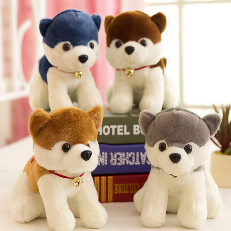 High quality simulation dog plush toy 7 inch doll sitting husky dog catching machine doll children birthday gift ornaments(China (Mainland))