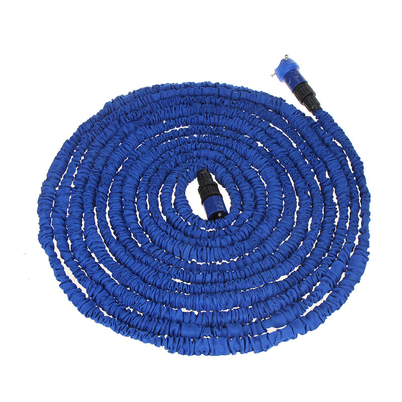Garden hose Stretched hose watering 100FT Blue Magic Expandable Garden Supplies Water Hose with Spray Gun(China (Mainland))