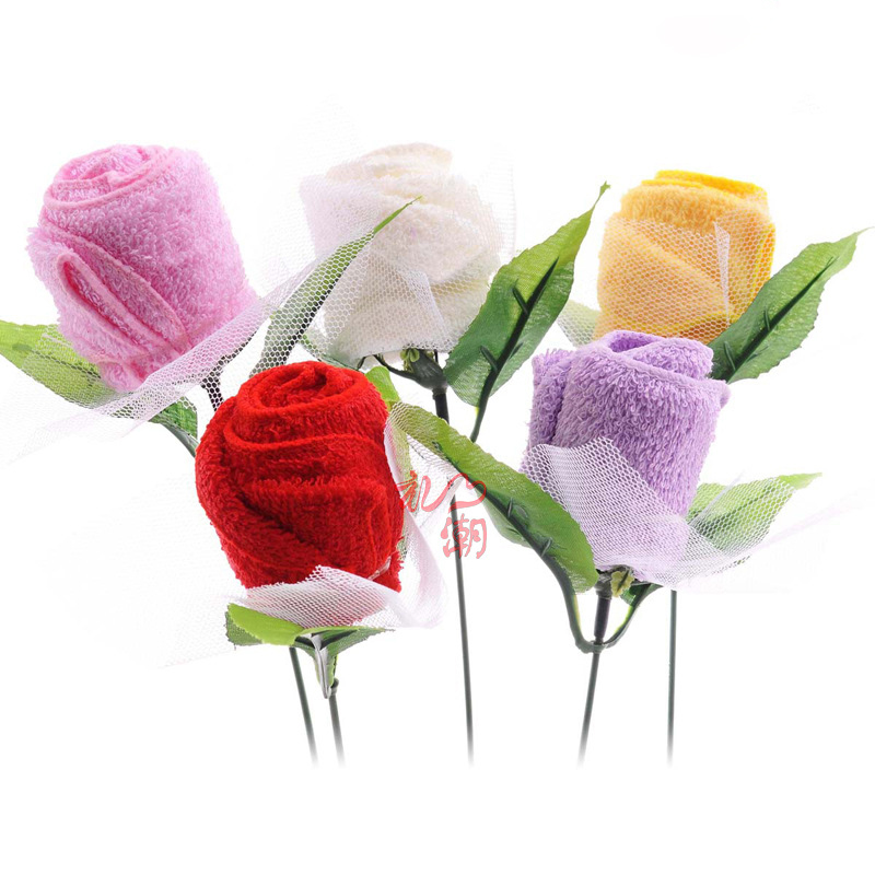 Sweet love Rose Wedding gifts for guests Favor promotional birthday face cake towel Love for All Seasons Superfine fiber(China (Mainland))