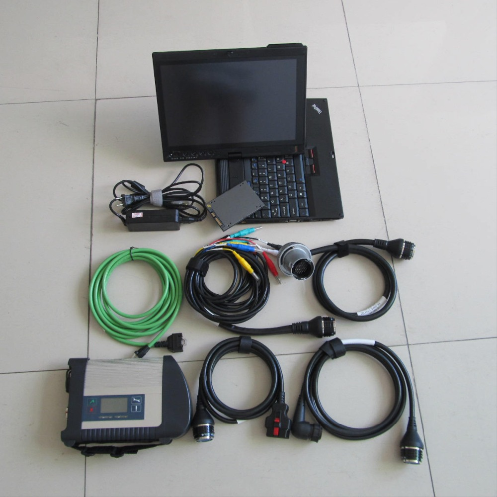 Full set MB Diagnostic Tool Support Wifi MB Star C4 MB SD C4 07/2016 X200t touch screen laptop installed well Super SSD Software(China (Mainland))