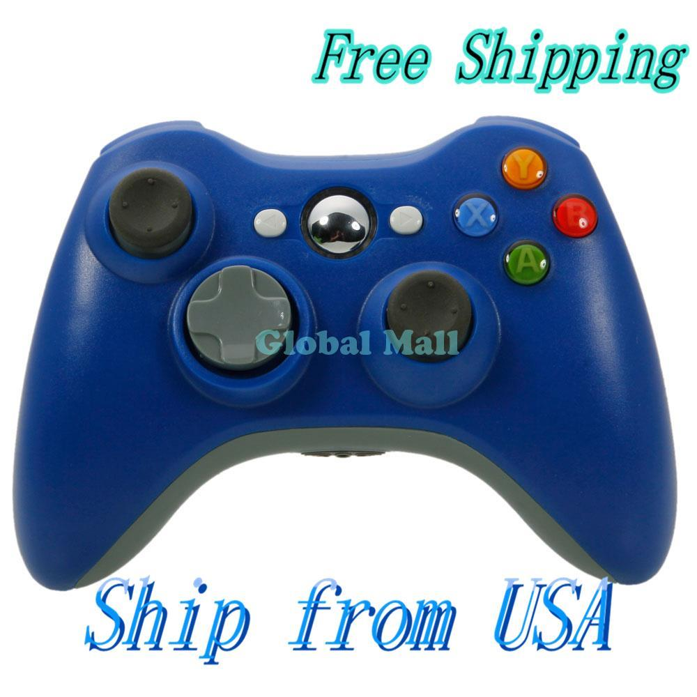 Ship From USA ABS Wireless Game Controller for Xbox 360 / PC Navy Blue 84004950(China (Mainland))