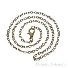 "12 Bronze Tone Lobster Clasp Link Chain Necklaces 2x3mm 16"" (B14103), yiwu(China (Mainland))"