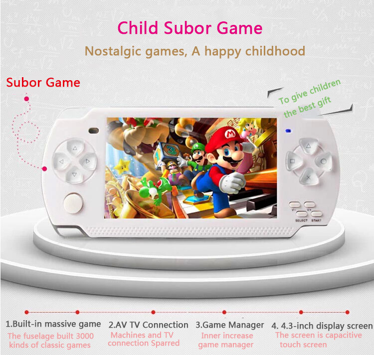 """Subor Handheld Game Consoles 8GB 4.3"""" Portable Video Game Built-in Massive Games Support TV Camera MP3/4 Handheld Game Wholesale(China (Mainland))"""