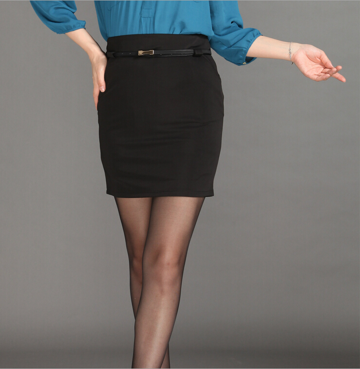 Aliexpress.com  Buy Womens Black Formal Skirt Office Ladies Work wear Plus Size S XXL Slim Hips ...