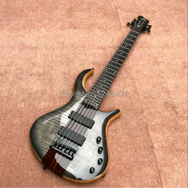 Free delivery 6 string bass guitar body 3 wooden mosaic tiger can be customized(China (Mainland))