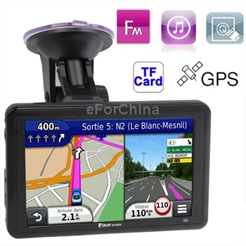 Q5 5.0 inch TFT Touch Screen Car GPS Navigator, Hi-Fi Speaker and Stereo Earphone , Voice Broadcast, FM Transmitter Function