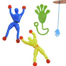 1 piece  9cm*3cm Silica gel robot Climbing Spider-Man  sticky Spiderma Superman Climbing on glass for kids fuuny toy boy(China (Mainland))