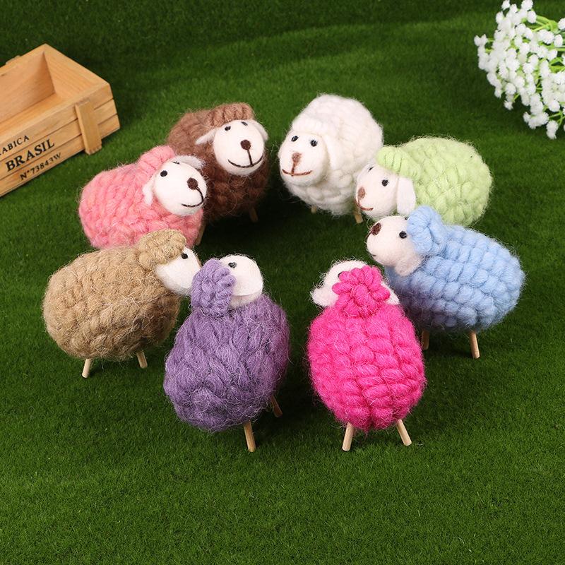 Hot cartoon Lovely Alpaca Sheep Plush Stuffed Toy Room Decoration Fashion creative fill plush toys Child gifts(China (Mainland))